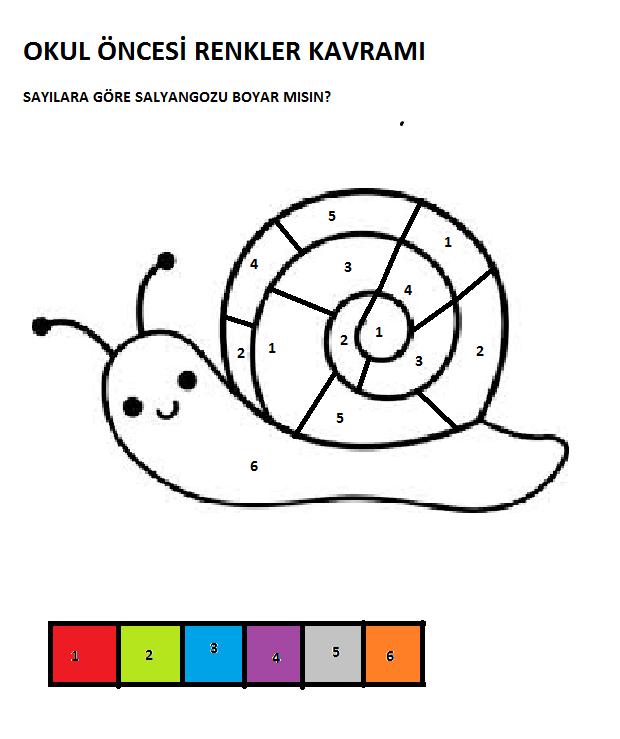salyangoz boyama sayfası