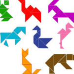 Tangram hayvan figürleri