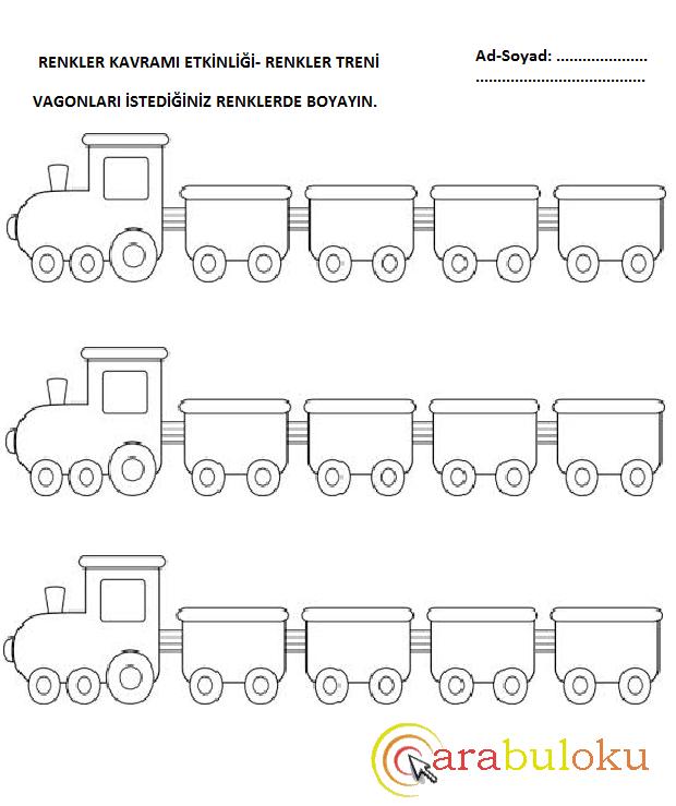 tren boyama oyunu