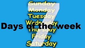 days of teh week song
