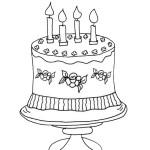 doğum günü pastası boyama