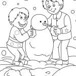 kış boyama sayfası