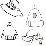 kız şapkaları boyama