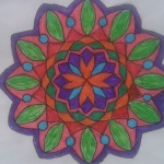 renkli mandala örneği kolay