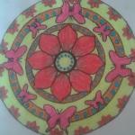 çiçekli mandala