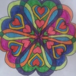 kalp şekilli mandala