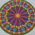 mandala örneği renkli
