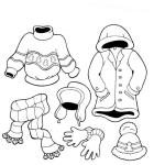 kar kıyafetleri boyama