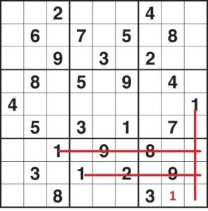 kolay sudoku çözümü