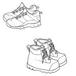 ayakkabı resmi boyama
