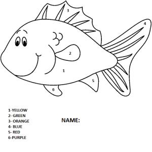 fish coloring,