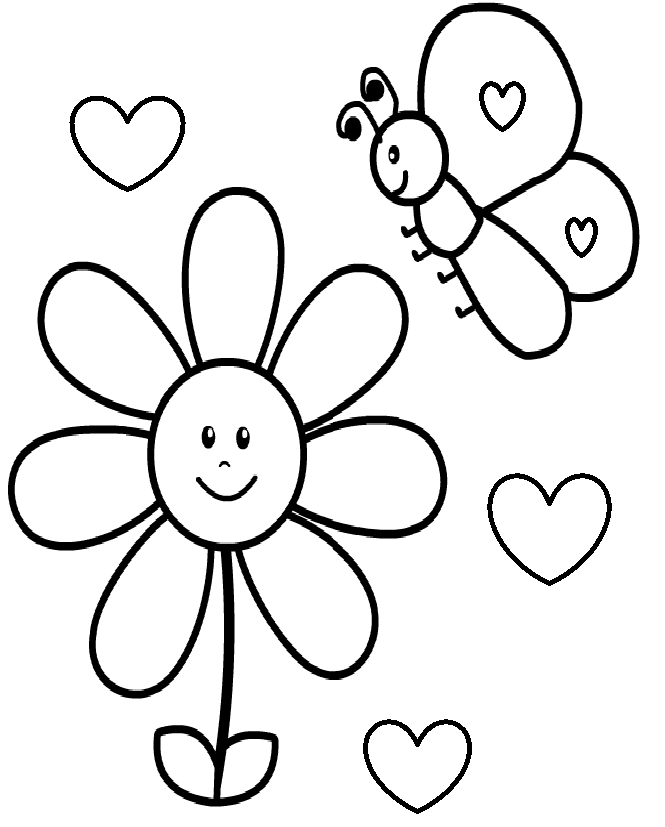 Butterflies Coloring Pages For Toddlers