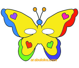renkli kelebek maskesi2