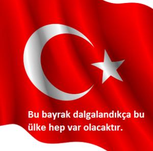 dalgalı Türk bayrağı