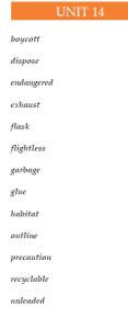 14 ünite kelimeleri