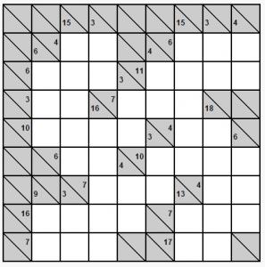 8x8 kakuro örneği