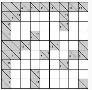 8x8 kakuro bulmacası