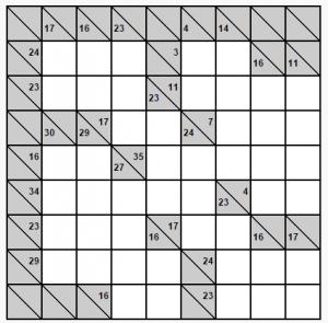 kolay 8x8 kakuro bulmacası