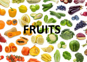 FRUITS LIST