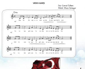vatam marşı melodika notaları