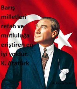 Atatürk'ün barışla ilegili sözleri