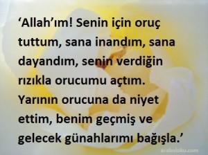 Türkçe iftar duası resimli