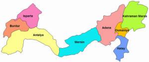 akdeniz bölgesindeki şehirler