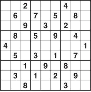 sudoku çözümü