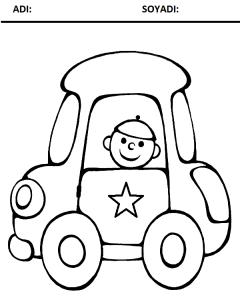 araba resmi boyama