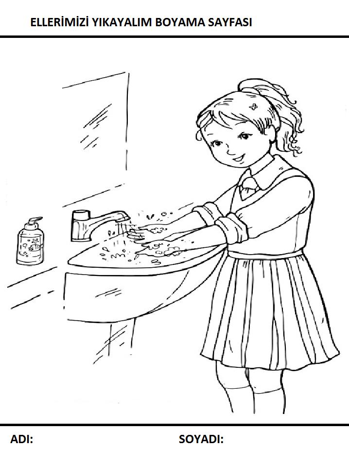 Temizlik Boyama Sayfalari Sayfa 3 9 Yeter Ki Siz Okuyun