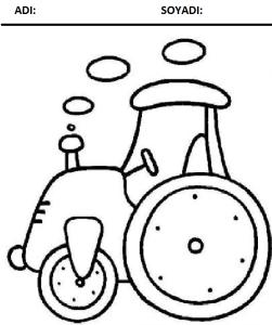 traktör boyama