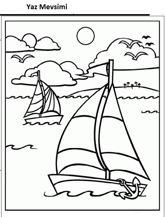 Mevsimler Boyama Sayfasi Sayfa 5 7 Yeter Ki Siz Okuyun
