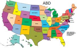 ABD haritası