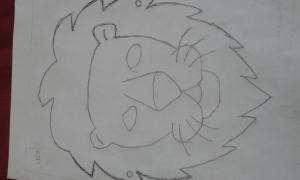 aslan maskesi çizimi