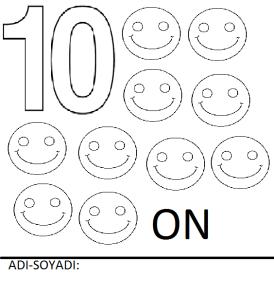 on rakamı boyama