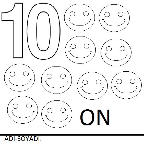Rakamlar Boyama Sayfalari Sayfa 10 10 Yeter Ki Siz Okuyun