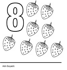 sekiz rakamı boyama