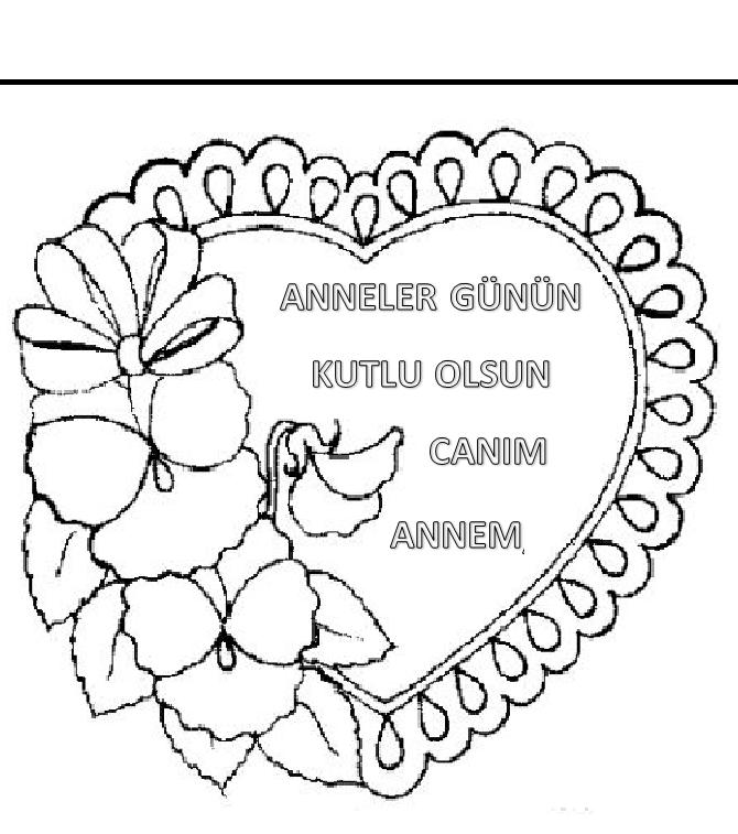 Anneler Gunu Boyama Sayfalari Sayfa 4 4 Yeter Ki Siz Okuyun