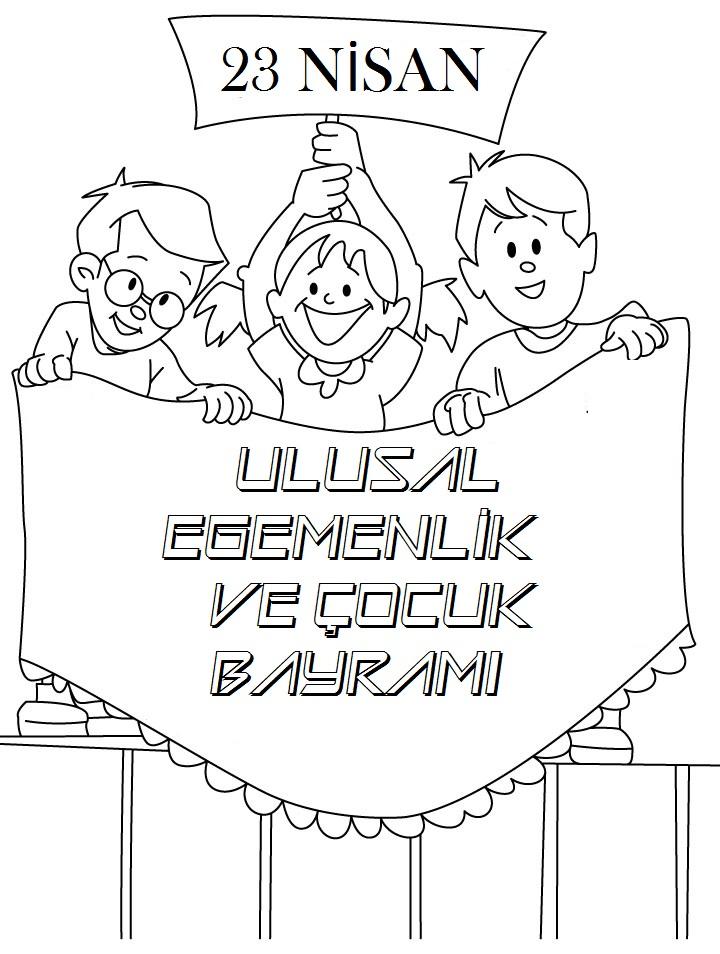 23 Nisan Boyama Sayfalari Sayfa 2 2 Yeter Ki Siz Okuyun