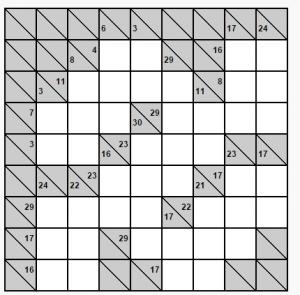 kolay 8x8 kakuro bulmaacası