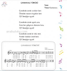çanakkale türküsü flüt notaları