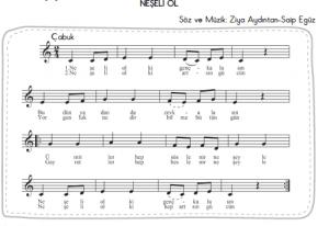 neşeli ol şarkısı melodika notaları