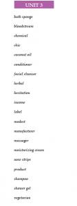 3. ünite ingilizce kelimeleri