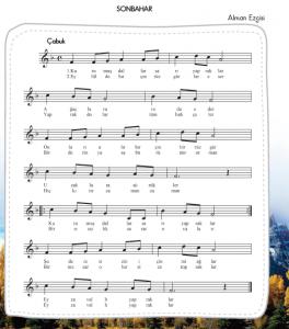sonbahar şarkısı notaları