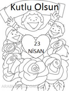 23 Nisan Boyama Sayfalari Yeter Ki Siz Okuyun Arabuloku Com